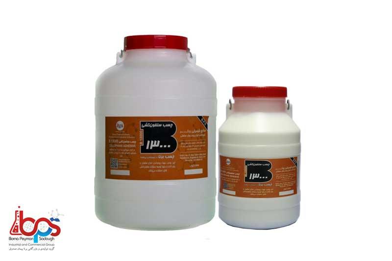 محصولات صنایع شیمیایی برنا تحت عنوان محصول چسب برنا چسب سلفون کشی